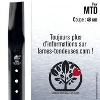 Lame tondeuse.  Coupe 48 cm. MTD