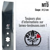 Lame tondeuse. Coupe 41,3 cm. MTD