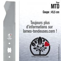 Lame tondeuse. Coupe 45,5 cm. MTD