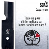 Lame tondeuse. Coupe 46 cm. Scag