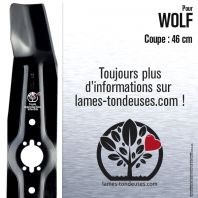 Lame tondeuse. Coupe 46 cm. Wolf
