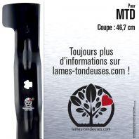 Lame tondeuse. Coupe 46,7 cm. MTD