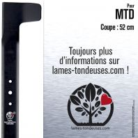 Lame tondeuse. Coupe 52 cm. MTD