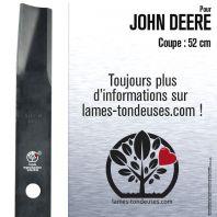 Lame pour John Deere AM35557, M112847, M48452. Coupe 52 cm