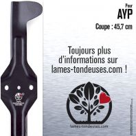 Lame tondeuse. Coupe 45,7cm. AYP 186388