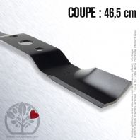 Lame. Coupe 46,5 cm. Section 57 x 4. Alèsage 25 .