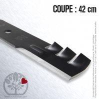 Lame. Coupe 42 cm. Section 64 x 5,2. Alèsage 15,9.