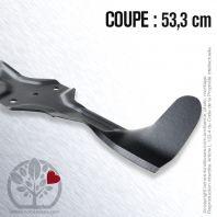 Lame tondeuse pour Husqvarna, Electrolux, Roper.Coupe 53.3