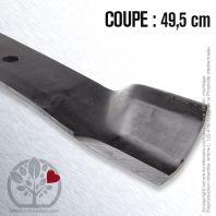 Lame pour John Deere, Sabo M83459, M84472, AM1009914. Coupe 49,5 cm