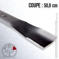 Lame. Coupe 50,8 cm. Section 63 x 3,5. Alèsage 16 mm