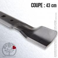 Lame pour John Deere GX20250. Coupe 43 cm