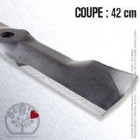 Lame pour John Deere M111522, M115495. Coupe 42 cm
