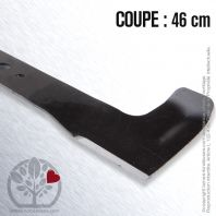Lame . Coupe 46 cm. Section 55 x 3. Alèsage 18,5 .