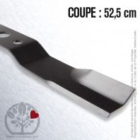 Lame. Coupe 52,5 cm. Section 57 x 4. Alèsage 25 .