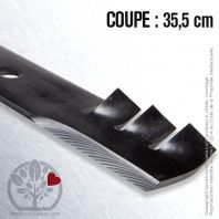 Lame pour John Deere AM30698. Coupe 35,5 cm