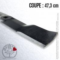 Lame pour John Deere GX21380, GY20684. Coupe 47,3 cm