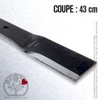 Lame pour Bunton PL7329. Gravely 46998. Coupe 43 cm