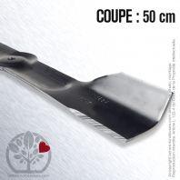 Lame. Coupe 50 cm. Section 54 x 3,5. Alèsage 9,5.