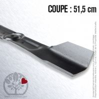 Lame. Coupe 51,5 cm. Section 50/70 x 3,5. Alèsage 10.