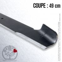 Lame pour Bernard Loisirs,Husq, Electrolux Roper 121263 X. Coupe 49 cm