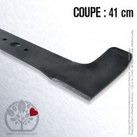 Lame. Coupe 41 cm. Section 55 x 4. Alèsage 18,5.
