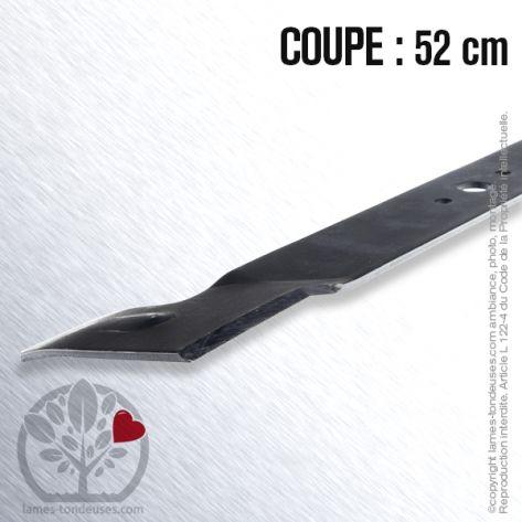 Lame tondeuse. Coupe 52 cm. Brill, Castelgarden, Honda, Iseki, John Deere, Sabo, Solo, Stiga, Viking