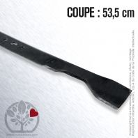 Lame. Coupe 53,5 cm. Section 57 x 3,5. Alèsage 16