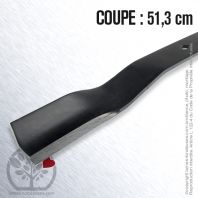 Lame. Coupe 51,3 cm. Section 50 x 5. Alèsage 16