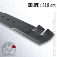 Lame pour Husqvarna, Electrolux 506 75 15-01. Coupe 34,9 cm