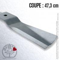 Lame Pour Iseki  8657.306.001.00. Coupe 47,3 cm