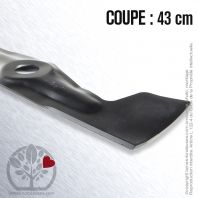 Lame pour John Deere, Sabo SA34454, 34454. Coupe 43 cm