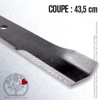 Lame. Coupe 43,5 cm. Section 63 x 5. Alèsage 17,5.