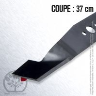Lame . Coupe 37 cm. Section 50 x 2,5. Alèsage 18,3 .