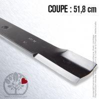 Lame. Coupe 51,8 cm. Section 60 x 7. Alèsage 18
