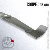 Lame. Coupe 53 cm. Section 75 x 3. Alèsage 28