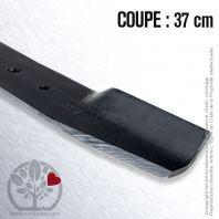 Lame. Coupe 37 cm. Section 50 x 3,5. Alèsage 10.