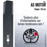 Lame pour AS Motor  1000 3442H. Coupe 63 cm