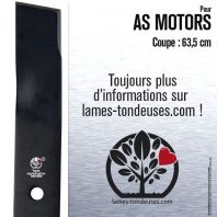 Lame pour AS Motor 10004145, 10003442. Coupe 63,5 cm