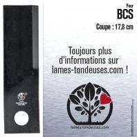 Lame pour BCS 56419369. Coupe 17,8 cm