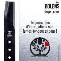 Lame pour Bolens  173-8571, 1772145. Coupe 43 cm