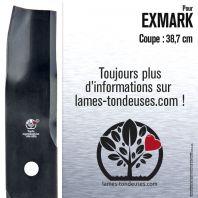 Lame pour Exmark 1-653102. Coupe 38,7 cm
