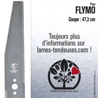 Lame pour Flymo 512 64 34-03. Coupe 47,3 cm