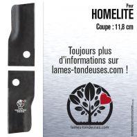 Couteaux tondeuse. Coupe 11,8 cm. Homelite. Par 2.