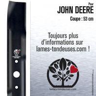 Lame pour John Deere M112972, M112738, M125413. Coupe 53 cm