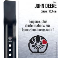 Lame pour John Deere GC00344. Coupe 53,3 cm