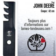 Lame pour John Deere  M115495. Coupe 42 cm