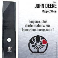 Lame pour John Deere M115759. Coupe 36 cm