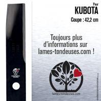 Lame tondeuse.  Coupe 42,2 cm. Kubota