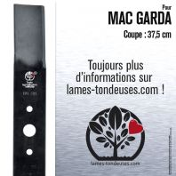 Lame tondeuse. Coupe 37,5 cm. Mac Garda