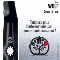Lame tondeuse. Coupe 51 cm. Wolf